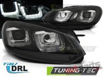 VW GOLF 6 08-12 U-TYPE BLACK BLACK LINE DRL - LPVWP4