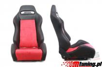 Racing seat R-LOOK PVC Black - Red - MN-FO-091