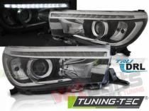 TOYOTA HILUX 16- LED PROJECTOR TRUE DRL BLACK - LPTO34