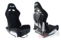 Racing seat SLIDE X3 suede Black S - MN-FO-207