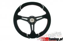Steering wheel Pro 350mm offset:50mm Suede Black - PP-KR-023