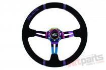 Steering wheel SLIDE 350mm offset:90mm Suede NeoChrome - PP-KR-042