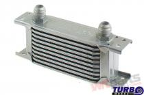 Oil Cooler TurboWorks Slim Line 10-rows 140x75x50 AN8 silver - CN-OC-110