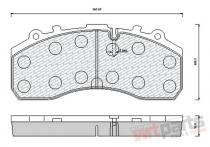 Brake pad set 10-01-01-0084