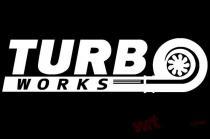 TurboWorks Sticker White - TW-IN-007