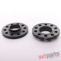 JRWS2 Spacers 15mm 5x100/112 57,  1 57,  1 Silver - JRWS2-15MM-MS-57BK