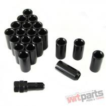 Set of BLACK LONG imbus lug nuts 12x1,  5 + Key LN1215DBK