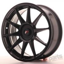 Japan Racing JR11 18x7,  5 ET35-40 Blank Glossy Black JR111875XX3574GB