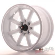Japan Racing JR19 15x8 ET0 4x100/114 White JR19158040073W