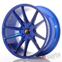 Japan Racing JR21 19x9,  5 ET35-40 5H Blank Plat Blue JR2119955X3574BLP