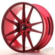 Japan Racing JR21 20x8,  5 ET40 5H Blank Plat Red - JR2120855X4074RP1