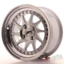 Japan Racing JR26 15x8 ET5 4x100 Machined Silver JR2615804H0567SM
