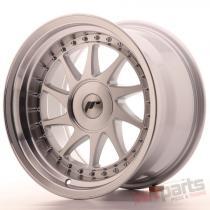 Japan Racing JR26 16x9 ET0-25 Blank Mach Silver JR261690XX0067SM