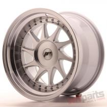 Japan Racing JR26 17x10 ET0-25 Blank Mach Silver JR261710XX0074SM