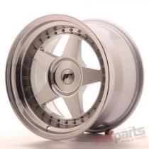 Japan Racing JR6 17x10 ET0-20 Blank Mach Silver JR61710XX0074SM