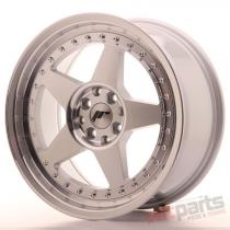 Japan Racing JR6 17x8 ET35 4x100/114 Machined Silver JR6178043574SM