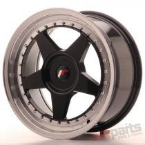 Japan Racing JR6 17x8 ET20-35 Blank Glossy Black JR61780XX2074GBL