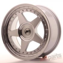 Japan Racing JR6 17x8 ET20-35 Blank Mach Silver JR61780XX2074SM