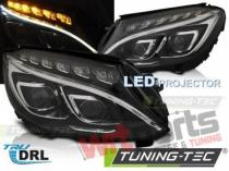MERCEDES W205 14-18 BLACK LED DRL LPMEC6