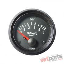 VDO Oil pressure gauge 5 Bar 52mm 12V - VDO-350-010-014K