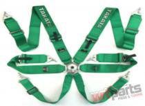 "Racing seat belts 6p 3"" Green - Takata Replica - JB-PA-020"