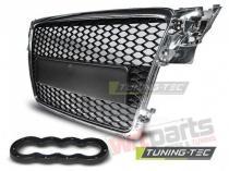 Plastic Cromed Debadged radiator grille Audi A4 GRAU02