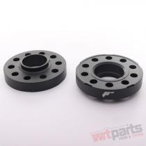 JRWS2 Spacers 25mm 5x120 74, 1 74, 1 Black - JRWS2-25MM-5I-74BK