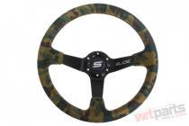 Steering wheel SLIDE 350mm offset:80mm Suede Camo PP-KR-058