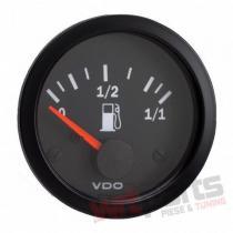 VDO Fuel leve gauge 52mm 12V VDO-301-010-007K