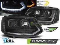 HEADLIGHTS TUBE LIGHT T6 LOOK BLACK fits VW T5 2010-2015 LPVWT2