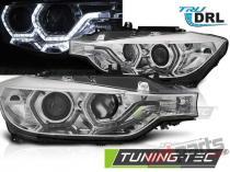 HEADLIGHTS ANGEL EYES LED DRL CHROME fits BMW F30/F31 LCI 15 - LPBMN1