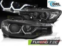 HEADLIGHTS ANGEL EYES LED DRL BLACK fits BMW F30/F31 LCI 15- LPBMN2