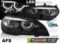 LED HEADLIGHTS ANGEL EYES LED DRL BLACK AFS fits BMW X5 E70  LPBMN8