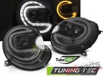 HEADLIGHTS TUBE LIGHT BLACK LED fits MINI (COOPER) 06-14 - LPMC18