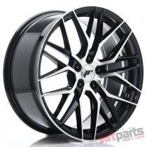 JR Wheels JR28 19x8,  5 ET40 5x108 Glossy Black Machined Face JR2819855M4065GBM