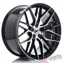 JR Wheels JR28 20x10 ET40 5H BLANK Gloss Black Machined Face JR2820105X4074GBM