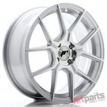 JR Wheels JR30 17x7 ET40 4x100 Silver Machined Face - JR3017704H4067SM