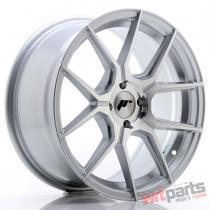 JR Wheels JR30 17x8 ET40 4x100 Silver Machined Face - JR3017804H4067SM