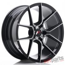 JR Wheels JR30 18x8,  5 ET20-40 5H BLANK Black Brushed w/Tinted Face - JR3018855X2074GBBF