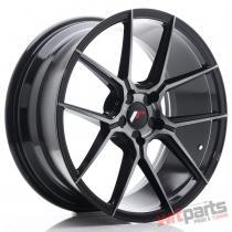 JR Wheels JR30 19x8,  5 ET35-42 5H BLANK Black Brushed w/Tinted Face - JR3019855X3574GBBF