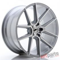 JR Wheels JR30 21x10,  5 ET15-45 5H BLANK Silver Machined Face JR3021055X1574SM
