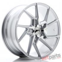 JR Wheels JR33 19x8,  5 ET20-48 5H BLANK Silver Machined Face JR3319855X2074SM
