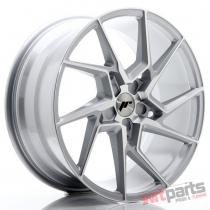 JR Wheels JR33 20x9 ET20-48 5H BLANK Silver Machined Face JR3320905X2074SM