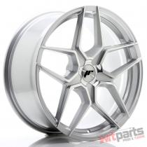 JR Wheels JR34 19x8,  5 ET35-40 5H BLANK Silver Machined Face - JR3419855X3574SM