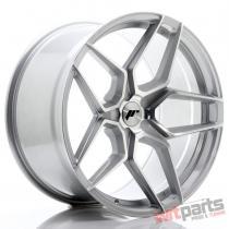 JR Wheels JR34 20x10,  5 ET20-35 5H BLANK Silver Machined Face JR34201055X2074SM