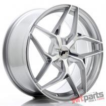 JR Wheels JR35 19x8,  5 ET20-45 5H BLANK Silver Machined Face JR3519855X2074SM