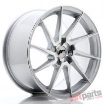 JR Wheels JR36 18x9 ET20-48 5H BLANK Silver Brushed Face - JR3618905X2074SBF