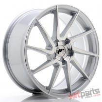 JR Wheels JR36 19x8,  5 ET40-50 5H BLANK Silver Brushed Face JR3619855X4074SBF