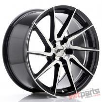 JR Wheels JR36 19x9,  5 ET20-45 5H BLANK Gloss Black Machined Face JR3619955X2074GBM