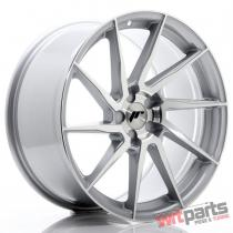JR Wheels JR36 19x9,  5 ET20-45 5H BLANK Silver Brushed Face JR3619955X2074SBF
